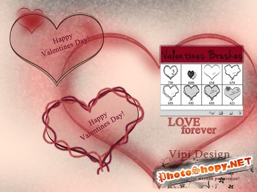 Happy Valentines Day Brushes for Photoshop