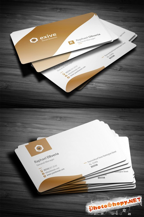 Name Business Card Template PSD