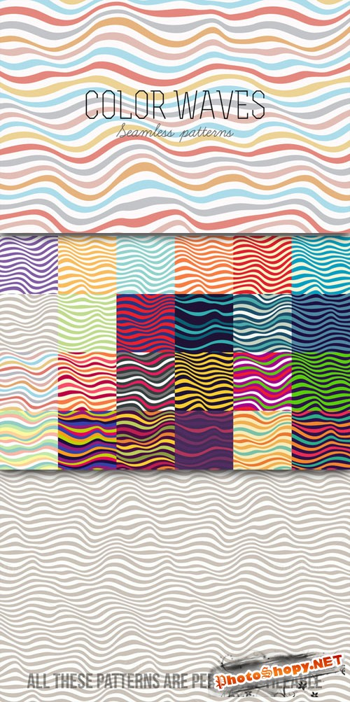 CreativeMarket - Seamless striped patterns 20068
