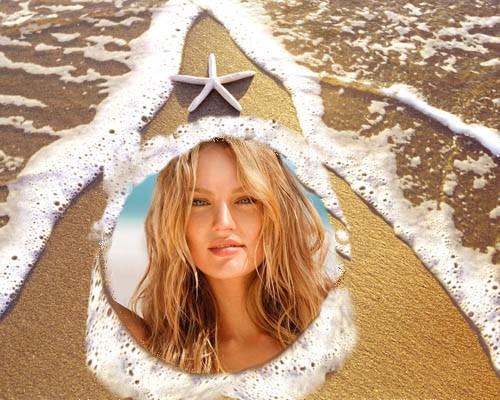 Рамка для фотошопа - Морская звезда