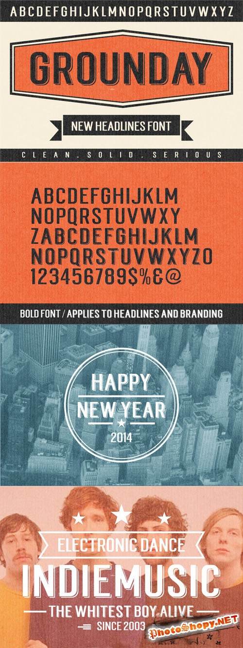 CreativeMarket - Grounday - Font Family 19148