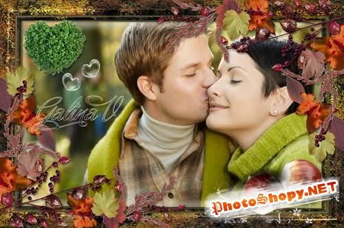 Рамка для фотошоп – Красавица осень
