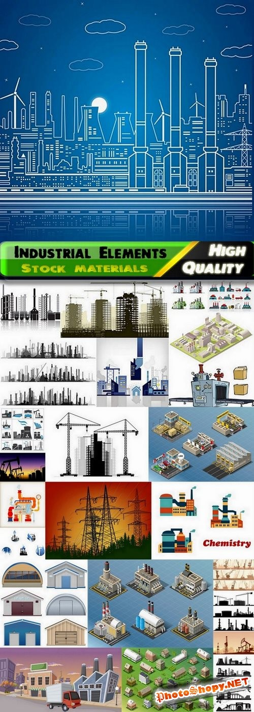 Industrial Element in vector from stock - 20 Eps - 5 Ai
