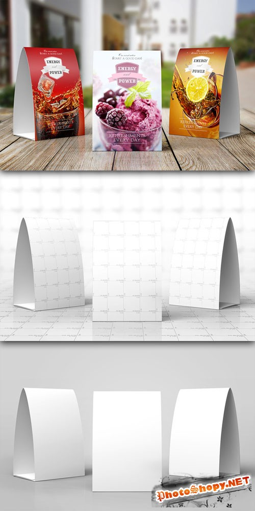 CreativeMarket - Table Tent Mock-up Template Vol.7