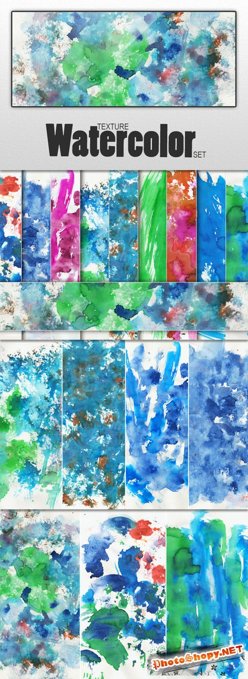 Watercolor Textures - Designtnt