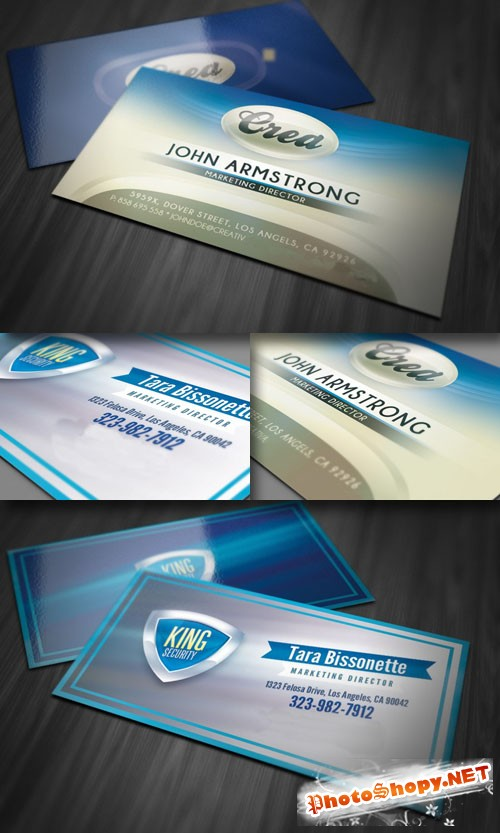 Glossy and Modern Business Card PSD Templates