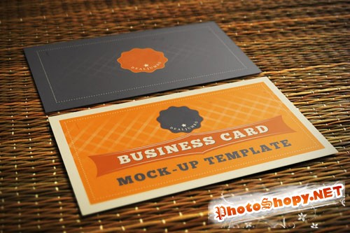 Pixelglow Business Card Mock-Up Template
