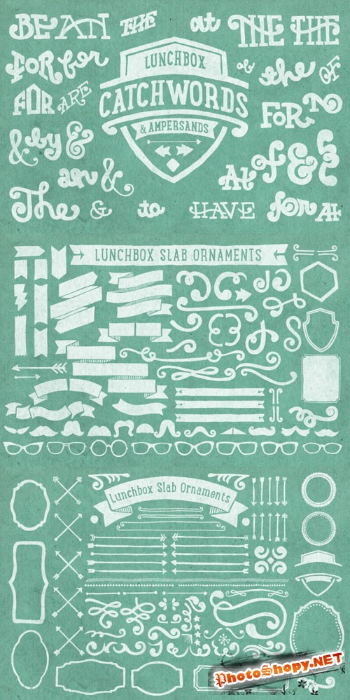 Lunchbox Slab Ornaments Vector Elements