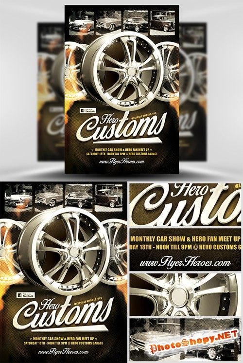 Flyer PSD Template - Hero Customs