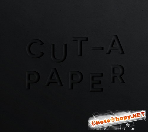Cut a Paper Text Effect