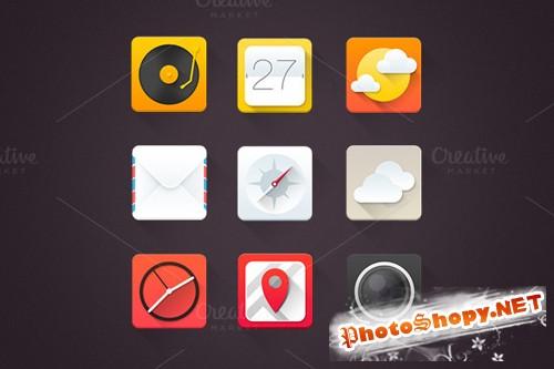 High Quality Flat Icons Set