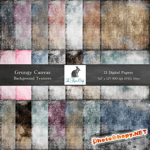 21 Grungy Canvas Backgrounds
