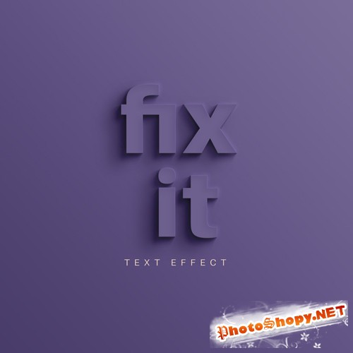 Fix it Text Effect