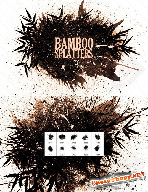 PS Brushes - Bamboo Splatter