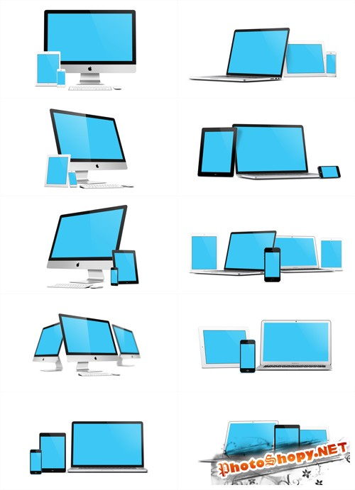 10 Apple Devices Mock up PSD