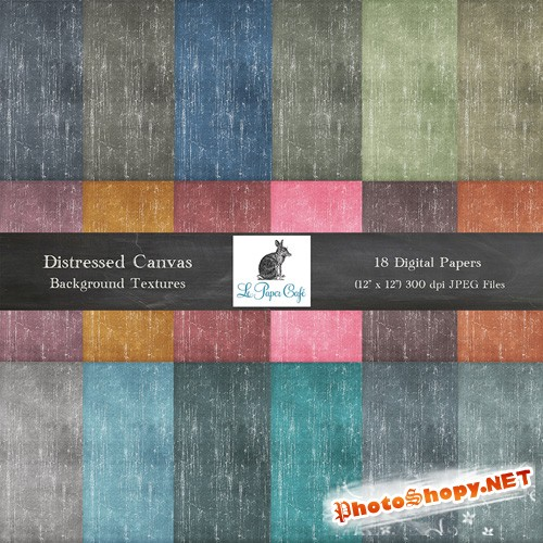 18 Distressed Canvas Backgrounds