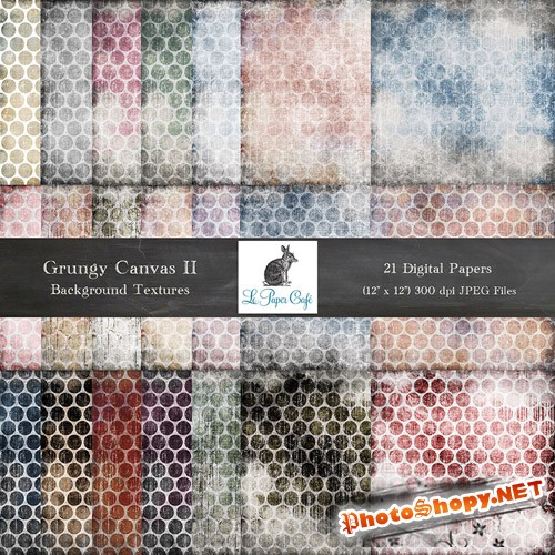 21 Grungy Canvas Backgrounds 2