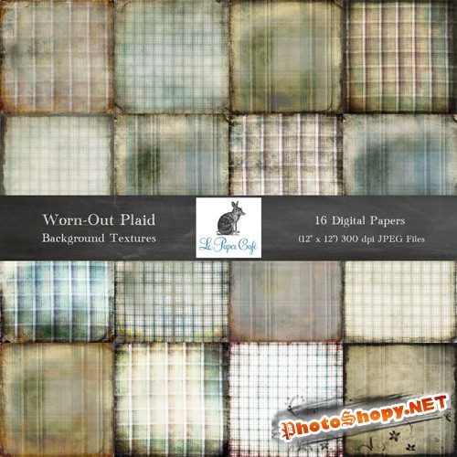 16 Worn out Plaid Backgrounds