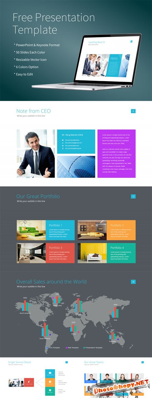 Modern and Clean Powerpoint/Keynote Presentation PPT Template