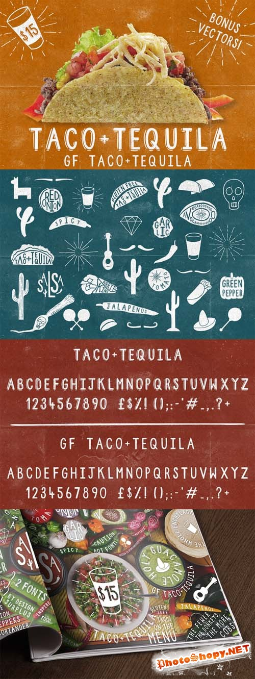 2 Fonts - Taco and Tequila
