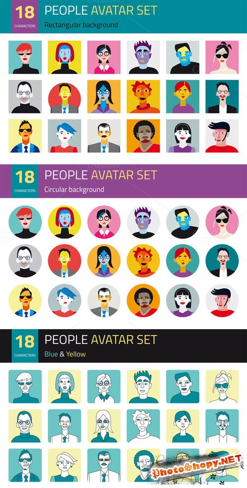 CreativeMarket - People Avatar Set 1510