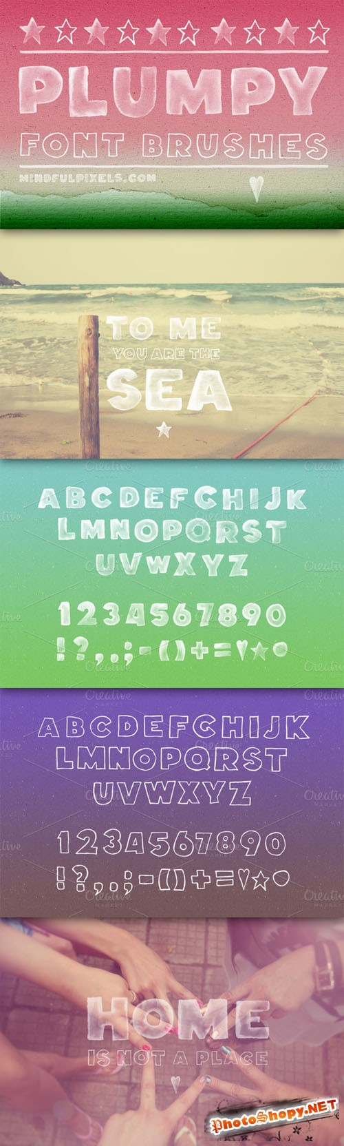 CreativeMarket - Plumpy Font Brushes 7110