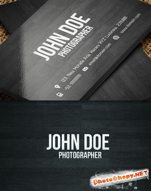 CreativeMarket - Creative Wooden Business Card 6051