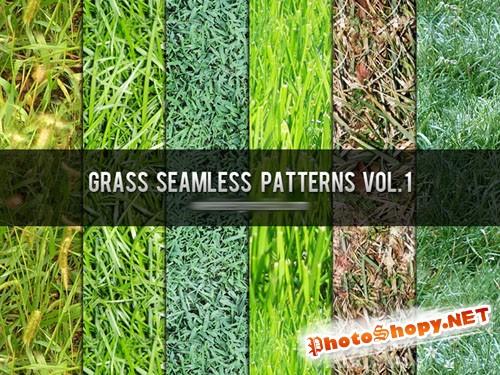 Grass Seamless Photoshop Patterns Vol. 1