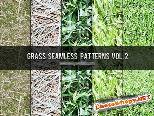 Grass Seamless Photoshop Patterns Vol. 2