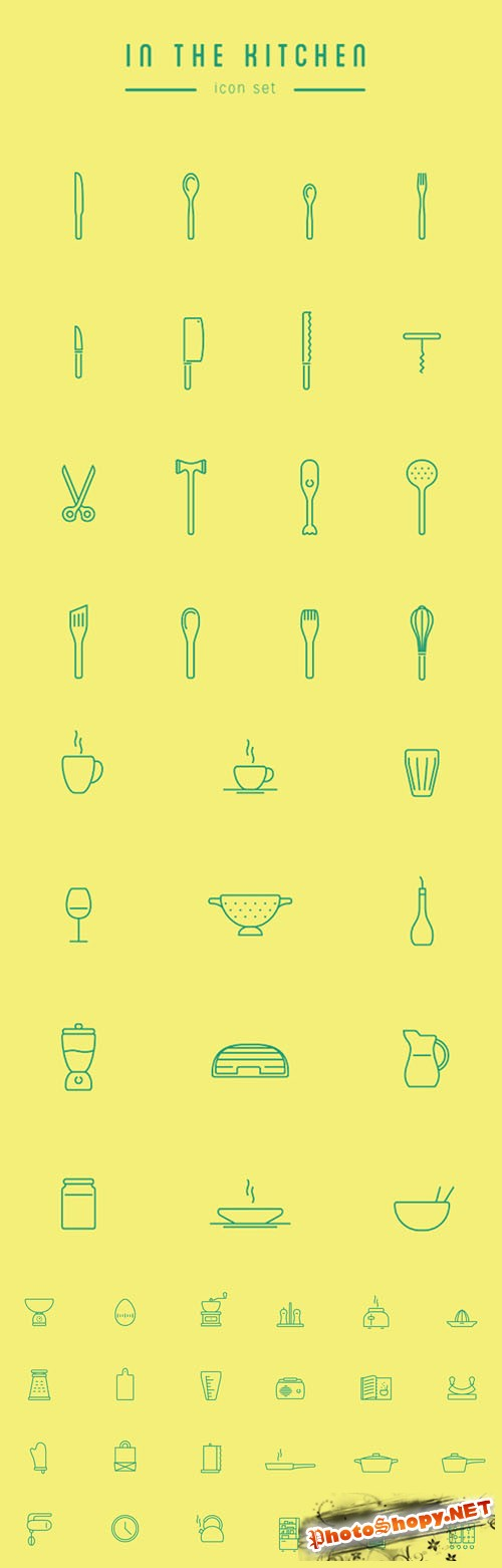 53 Kitchen Vector Icons
