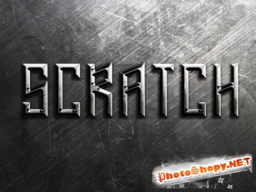Metal Scratches Text Effect PSD Template