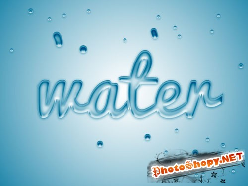 Water Bubble Text Effect PSD Template