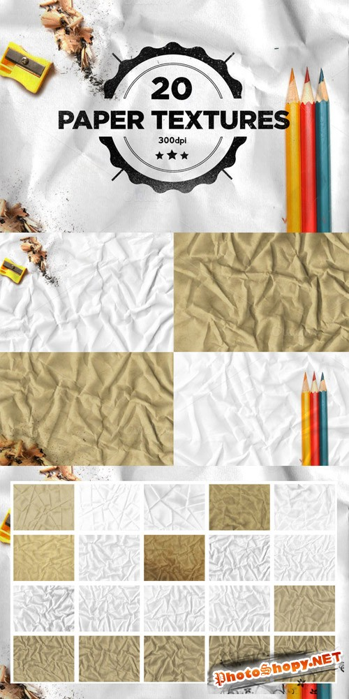 Folded Paper Textures Set