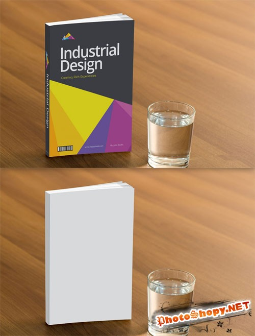Branding Presentation Book Cover PSD Mockup