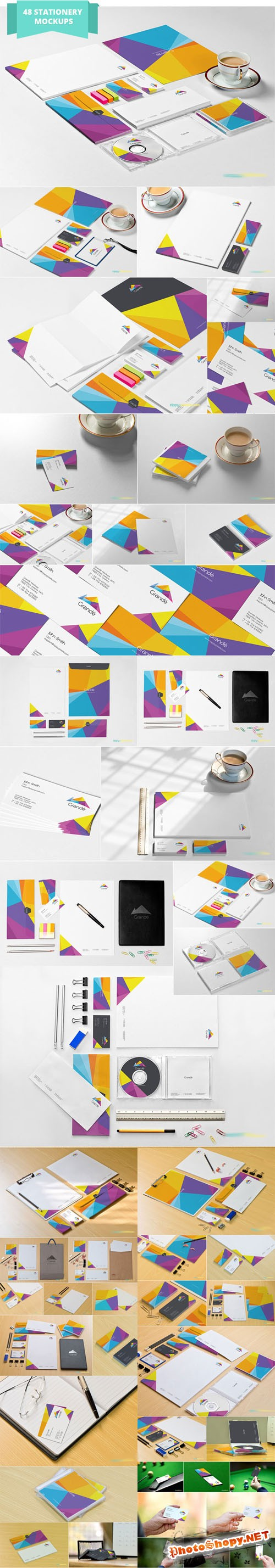48 Stationery Mockups - Zippypixels