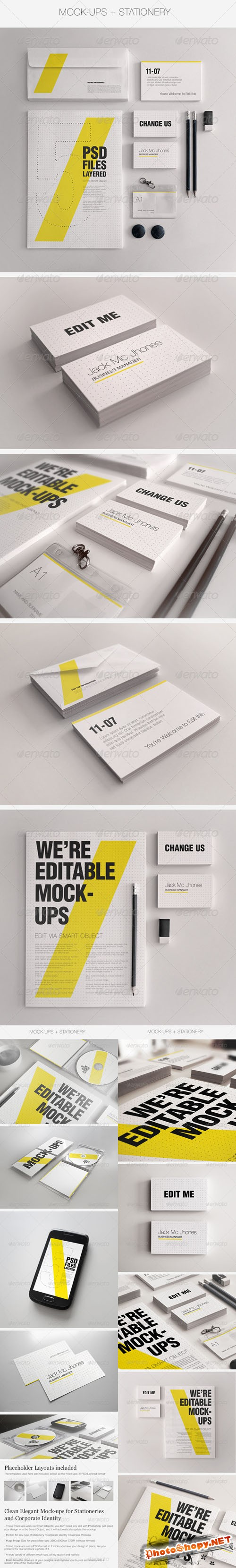 GraphicRiver - Realistic Stationery Mockups Bundle- Corporate ID