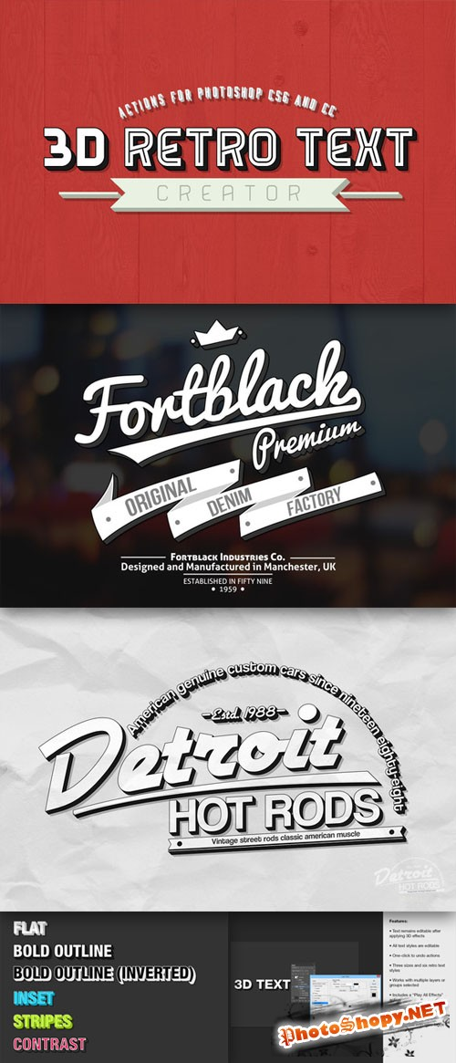 CreativeMarket - 3D Retro Text Creator 32020
