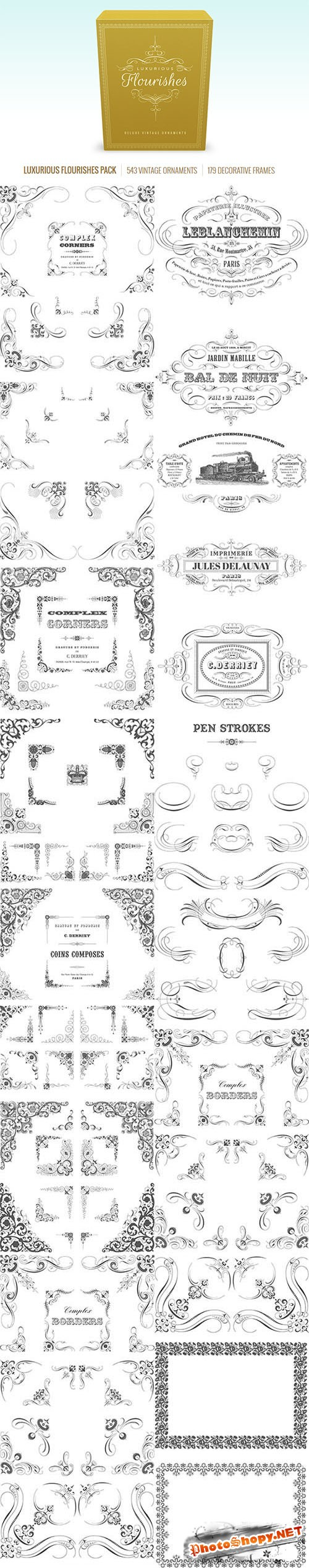 Luxurious Flourishes Pack - Vectorian Vector Elements