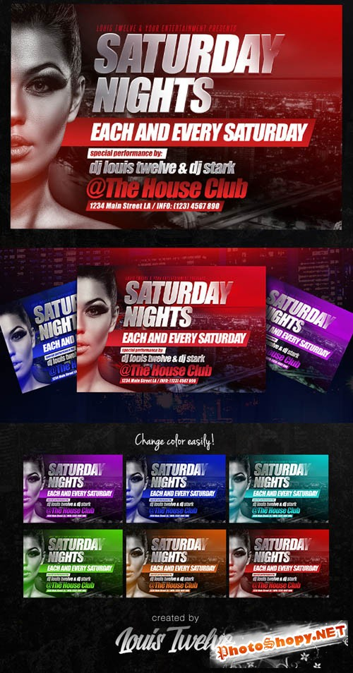 Flyer Template - Saturday Night 2