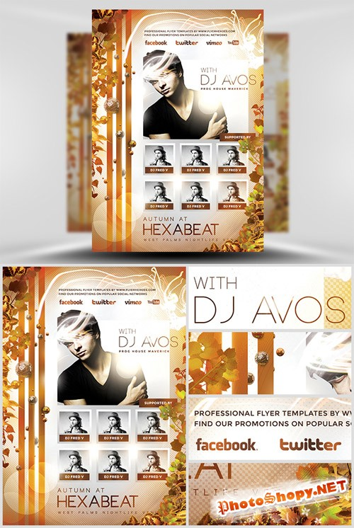Flyer Template PSD - Autumn Club