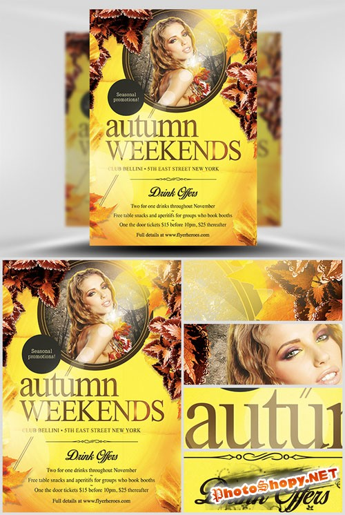 Autumn Weekends Flyer Template