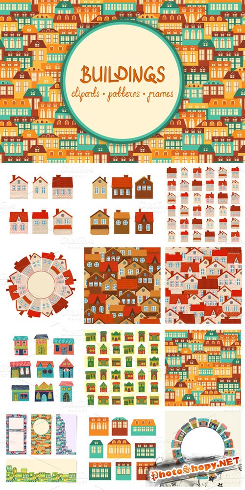 CreativeMarket - Vector Buildings 5814