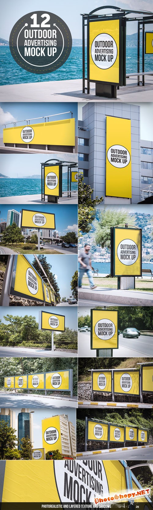 CreativeMarket - Outdoor Advertising Mock Up 75858