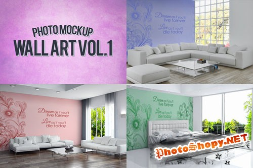 CreativeMarket 48632 - Wall Art Photo Mockups Volume 1