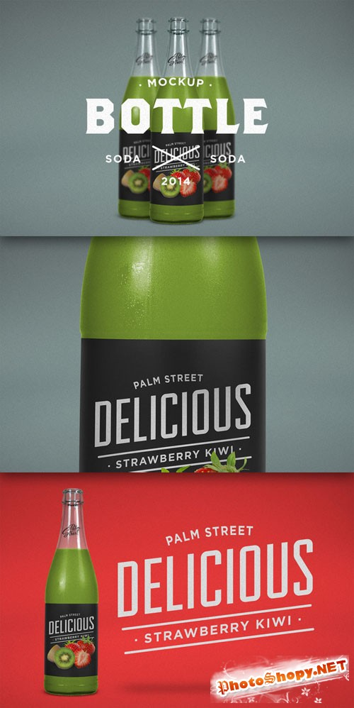 CreativeMarket - Flavored Soda Mock-Up 63344