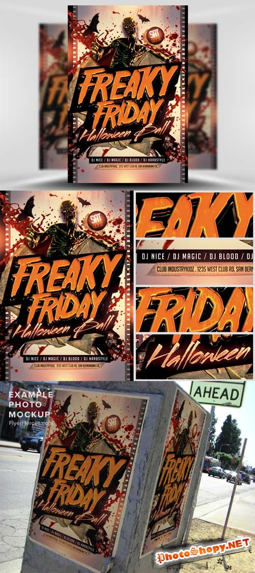 Freaky Friday Halloween Flyer Template