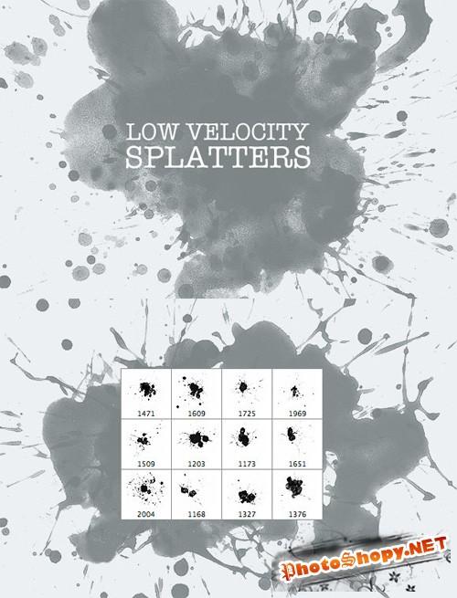 Low Velocity Splatter Photoshop Brushes