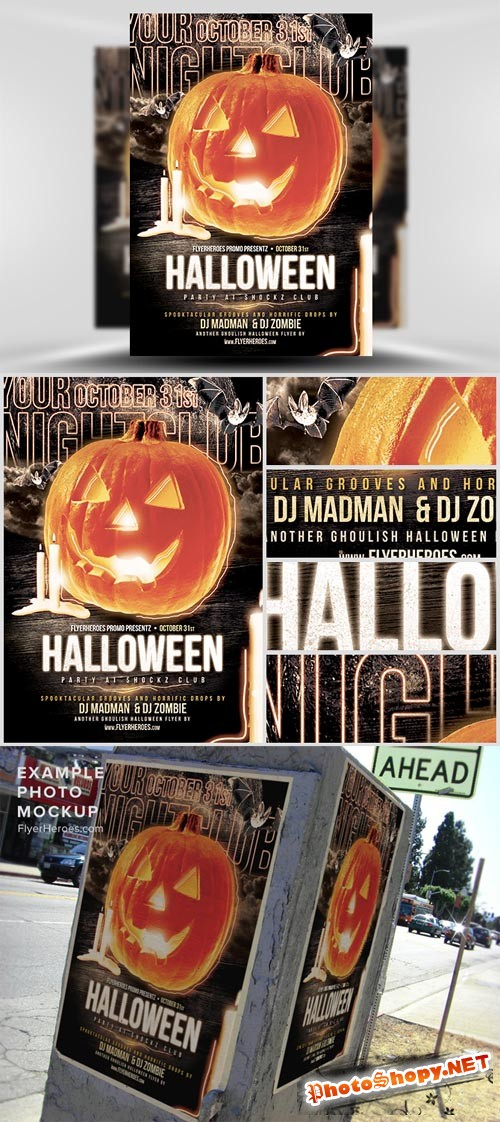 Halloween Club Flyer Template