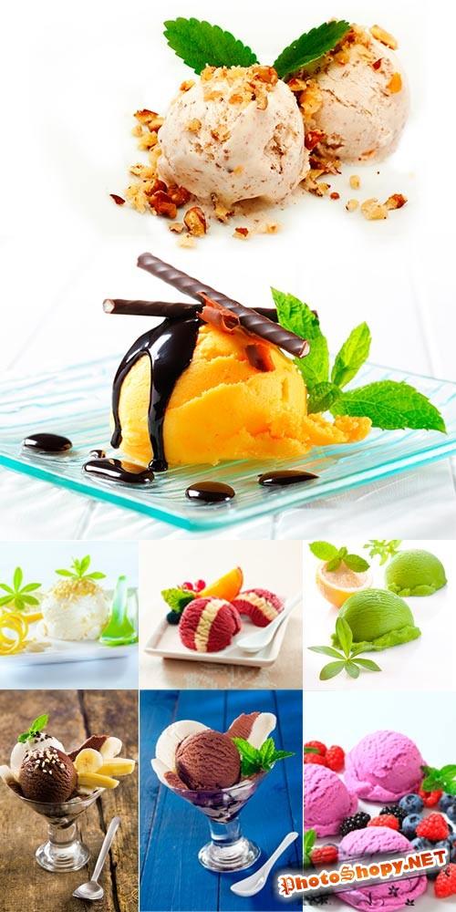 Мороженое - растровый клипарт