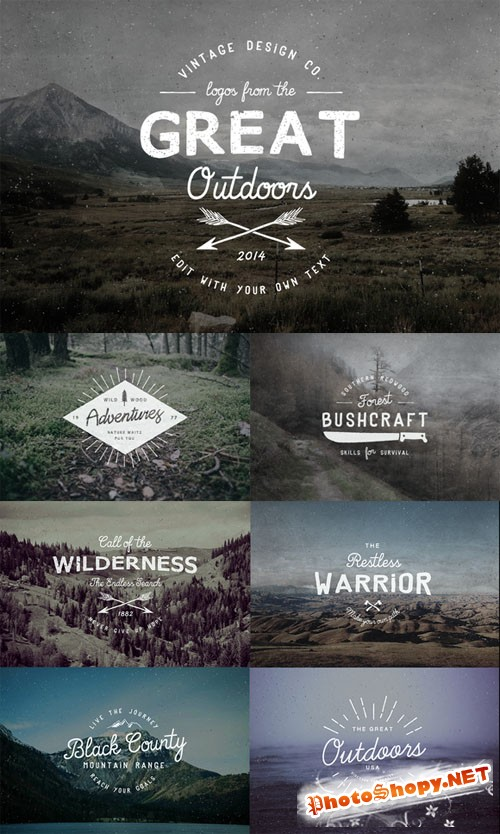 CreativeMarket - Logos from the Great Outdoors 26815